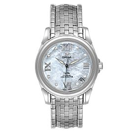 Omega DeVille Co-Axial 31 MOP Diamond Dial Steel Ladies Watch 4531.31.00