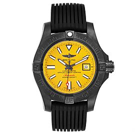 Breitling Avenger II Seawolf Cobra Yellow LE Blacksteel Watch M17331