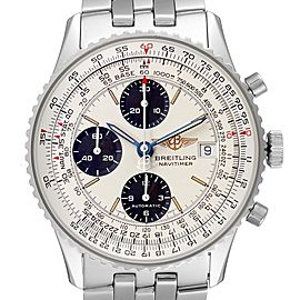 Breitling Old Navitimer II Silver Dial Steel Mens Watch A13022