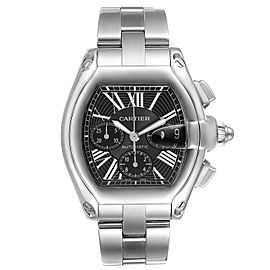 Cartier Roadster XL Chronograph Black Dial Mens Watch W62020X6