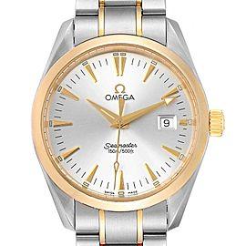 Omega Seamaster Aqua Terra Midsize Steel Yellow Gold Watch 2318.30.00