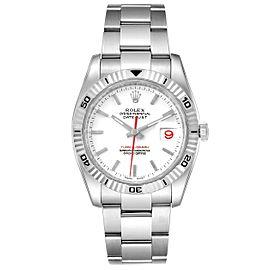 Rolex Turnograph Steel White Gold Bezel Mens Watch 116264