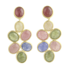 Marco Bicego 18K Yellow Gold Siviglia Multi-Colored Sapphire Earrings