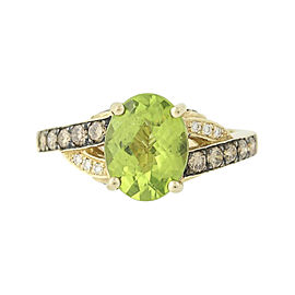 Le Vian 14K Yellow Gold 2.10ct. Peridot & 0.43ct. Diamond Ring Size 7