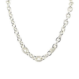 David Yurman 925 Sterling Silver 2.40ctw Diamond Cable Chain Necklace