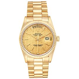 Rolex President Day-Date 36mm Yellow Gold Mens Watch 18238
