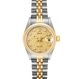 Rolex Datejust Jubilee Dial Steel Yellow Gold Diamond Ladies Watch 69173