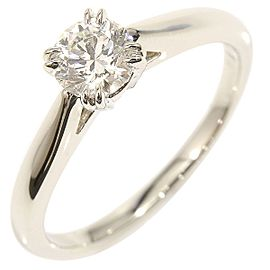 Harry Winston 950 Platinum & 0.5ct Diamond Engagement Ring Size 5.75