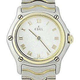Ebel Sport Classic 1157111 Stainless Steel & 18K Yellow Gold Quartz 23mm Womens Watch