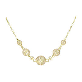 Judith Ripka 925 Sterling Silver Gold Plated Cubic Zirconia Necklace