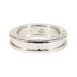 Bulgari 18K White Gold B-Zero 1 Band Ring Size 4.75