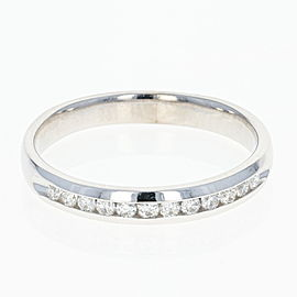 14K White Gold Diamond Wedding Ring Size 9