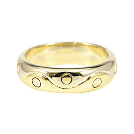 Bulgari 18K White & Yellow Gold Onda Band Ring Size 6.0