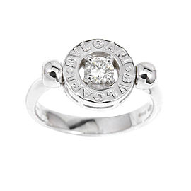 Bulgari 18K White Gold with Diamond Ring Size 5