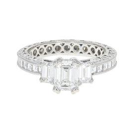 Tacori Platinum 3.50ctw Diamond Eternity Ring Size 6.5