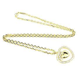 Chopard Happy 18K Yellow Gold & Diamond Heart Pendant Necklace