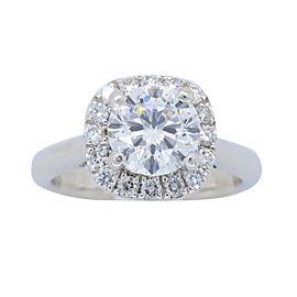 Scott Kay 18K White Gold 1.25CTW Diamond Engagement Ring Size 4.75