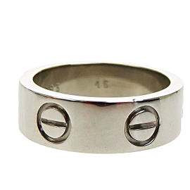 Cartier Love 750 White Gold Ring Size 3.5