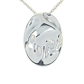 Tiffany & Co. Peretti 925 Sterling Silver Zodiac Leo Pendant Necklace