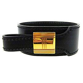 Hermes Gold Tone Hardware & Leather Artemis Bracelet Bangle Bracelet