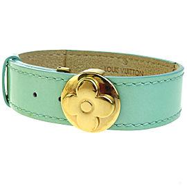 Louis Vuitton Gold Tone Hardware & Leather Good Luck Bracelet