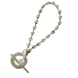Gucci 925 Sterling Silver Logos Chain Bracelet