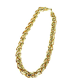 Christian Dior Gold Tone Hardware Chain Choker Necklace