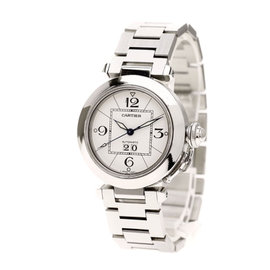 Cartier Pasha C 2475 Stainless Steel Automatic 36mm Mens Watch
