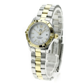Tag Heuer Aqua Racer WAF1424 Stainless Steel / Gold Plated Quartz 27mm Womens Watch