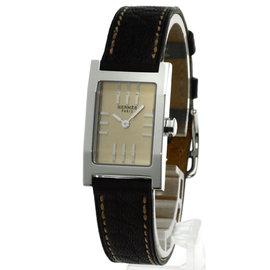 Hermes Tandem TA1.210 Stainless Steel / Leather Quartz 19mm Womens Watch
