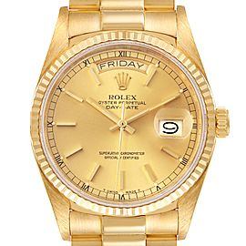 Rolex President Day-Date 36mm Yellow Gold Mens Watch 18038 Box