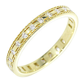 Damiani 18K Yellow Gold & Diamonds Belle Époque Ring Size 5.25