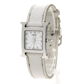 Hermes H Watch HH1.210 Stainless Steel & Leather 21mm Womens Watch