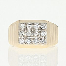 14K Yellow Gold Diamond Ring Size 7