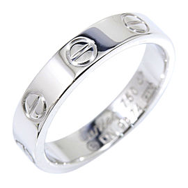 Cartier 18K White Gold Mini Love Ring Size 4