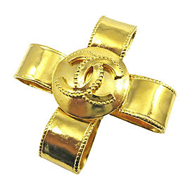 Chanel Gold-Tone Hardware Coco Mark Cross Vintage Pin Brooch