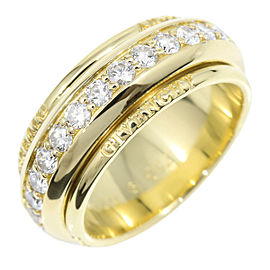 Givenchy 1.35ct Diamond 18K Yellow Gold Ring Size 6.75
