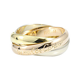 Cartier Trinity 18K Yellow, Rose & White Gold Ring Size 5.75