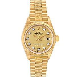 Rolex President Datejust 26 Yellow Gold Diamond Ladies Watch