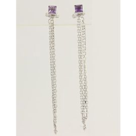 Gucci 18K White Gold Amethyst Earrings