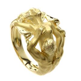 Carrera y Carrera 18K Yellow Gold Adam & Eve Ring Size 7