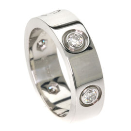 Cartier Love 18K White Gold with Diamond Ring Size 4.25