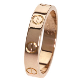 Cartier Mini Love 18K Rose Gold Ring Size 5.25