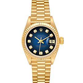Rolex President Yellow Gold Vignette Diamond Dial Ladies Watch