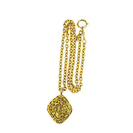 Chanel Gold Tone Hardware CC Logos Chain Necklace