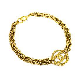 Chanel Gold Tone Hardware Coco Mark Pendant Necklace