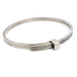 Bottega Veneta 925 Sterling Silver Intrecciato Bangle Bracelet