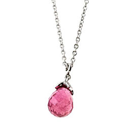 Chaumet 18K White Gold with Tourmaline, Pink Sapphire and Diamond Necklace