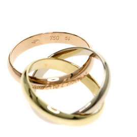 Cartier Trinity Ring 18K Yellow, White & Rose Gold Size 6.75