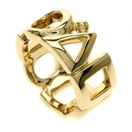 Chanel 18K Yellow Gold Geometric Figure Round Triangle Square Ring Size 5.5